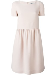 Cacharel Shortsleeved Midi Dress Nude And Neutrals