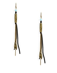 Robert Rose Chain And Cord Drop Earrings Turquoise