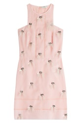 Fendi Embellished Silk Dress Rose