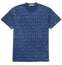 Givenchy Columbian Fit Printed Cotton T Shirt Blue