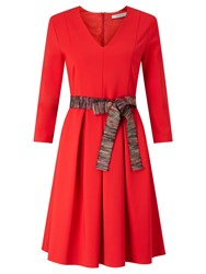 Marella Nebbia Belted Dress Red
