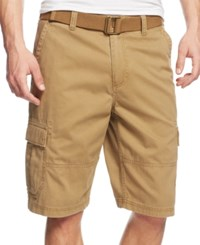 American Rag Belted Relaxed Cargo Shorts Dull Gold