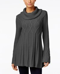 Styleandco. Style Co. Cowl Neck Tunic Sweater Only At Macy's Steel Grey Heather