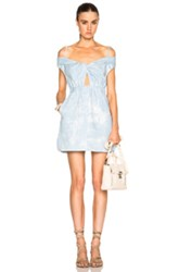 Thakoon Cut Out Dress In Blue Ombre And Tie Dye