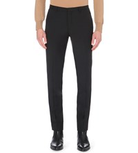 J. Lindeberg J Slim Fit Tapered Wool Trousers Black