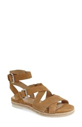 Women's Marc Fisher Ltd 'Alysse' Flat Sandal Natural Suede