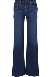 Frame Denim Le Capri High Rise Wide Leg Jeans Mid Denim