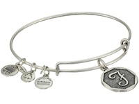 Alex And Ani Initial F Charm Bangle Rafaelian Silver Finish Bracelet