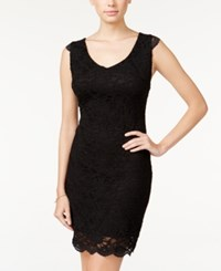 Jump Juniors' Sleeveless Lace Bodycon Dress Black