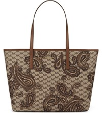 Michael Michael Kors Emry Paisley Large Leather Tote Luggage