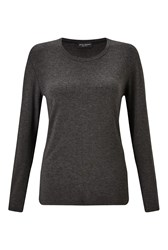 James Lakeland Long Sleeve Jersey Basic Top Charcoal