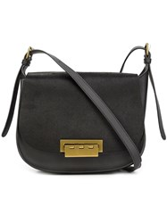Zac Posen Flap Closure Crossbody Bag Black