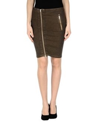 Rare Ra Re Knee Length Skirts Khaki