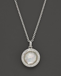 Ippolita Stella Lollipop Pendant Necklace In Mother Of Pearl Doublet With Diamonds In Sterling Silver 16 Multi