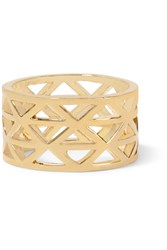 Arme De L'amour Gold Plated Ring Metallic