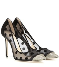 Jimmy Choo Dorothy 100 Mesh And Glitter Pumps Black