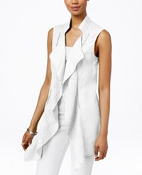 Inc International Concepts Linen Draped Vest Only At Macy's Bright White