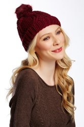 14Th And Union Chunky Fur Pom Beanie Red