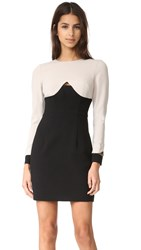 Black Halo Pia Colorblock Mini Dress Stratus Black