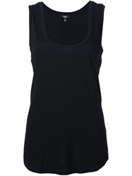 Paige Scoop Neck Tank Top Black
