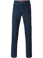 Jacob Cohen Denim Style Trousers Blue