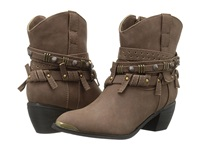Roper Studded Strap Ankle Boot Brown Cowboy Boots