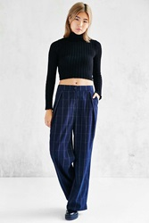 Shades Of Grey By Micah Cohen Pleated Wide Leg Pant Navy