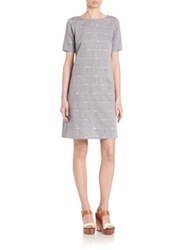 Eileen Fisher Nomadic Stripe Organic Cotton Dress Blue