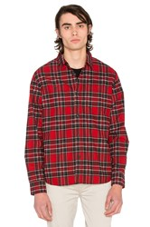 Stussy Double Brush Flannel Button Down Red