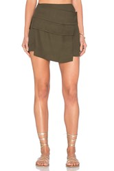 Osklen Military Pocket Skirt Army