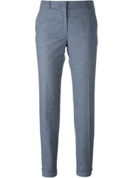 Incotex Cropped Trousers Blue