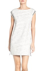 French Connection Women's 'Lula' Zip Stretch Shift Dress Heather Grey