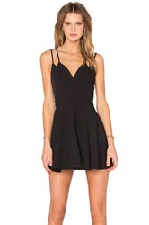 Nbd X Naven Twins Party Girl Fit And Flare Dress Black