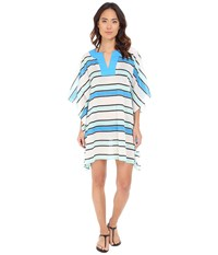 Vince Camuto Beach Front Tunic Cover Up Cerulean Women's Swimwear Blue