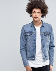 Cheap Monday Staple Denim Jacket Blue Block Blue Block