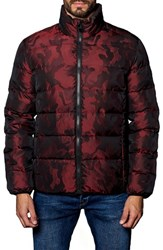 Jared Lang Men's Geneva Camo Down Puffer Jacket Red Camo