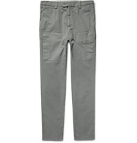 Brunello Cucinelli Cotton Twill Cargo Trousers Gray