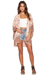 Spell And The Gypsy Collective Coyote Short Kimono Peach