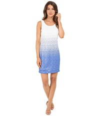 Christin Michaels Ombre Sequin Tank Dress Blue White Multi Women's Dress
