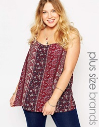 New Look Inspire Paisley Cami Redpattern