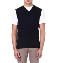 Hugo Boss Babard Knitted Vest Navy