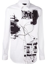 Diesel Black Gold Abstract Print Shirt White