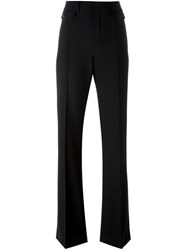 Chloe Fitted Flared Trousers Black