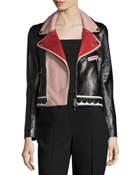 Red Valentino Multicolored Leather Jacket