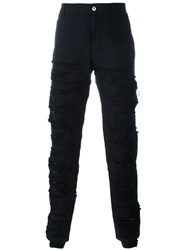Hood By Air Canvas Shredded Pants Black