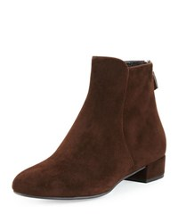 Prada Suede Back Zip Ankle Boot Moro