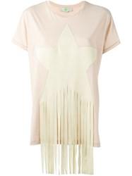 Stella Mccartney 'Star Patch' T Shirt Pink And Purple