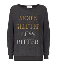 Wildfox Couture More Glitter Sweatshirt Female Black