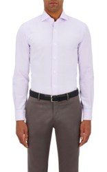 Barba Men's Cotton Faille Shirt Light Purple
