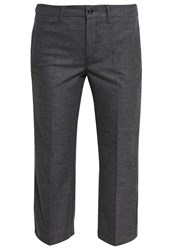 M A C Mac Chic Trousers Stone Grey Melange Mottled Grey